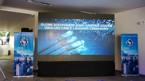 DAVAOLIFE.com | Globe Lands SEA-US Cable System in Talomo, Davao City