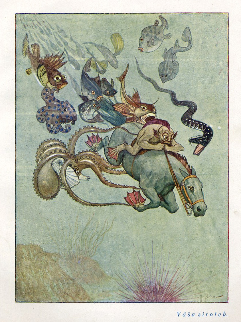 Artus Scheiner - Illustration from J. Š. Kubín´s Under Command Of Magic. 1920's