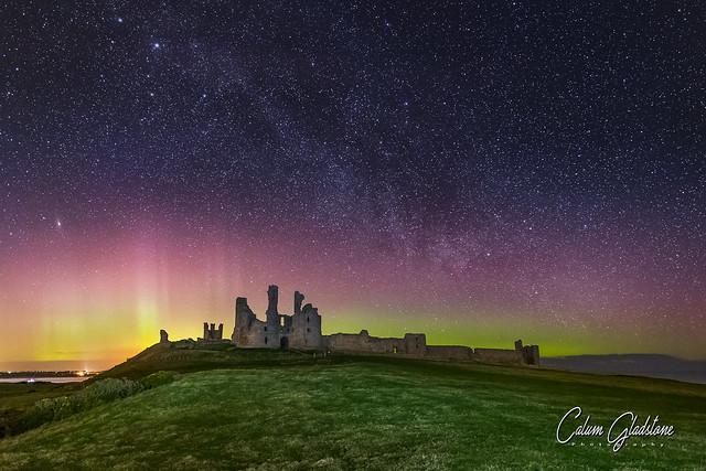 Dunstanburgh Castle Aurora