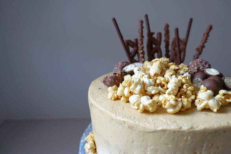 Cinnamon Sponge Cake with Caramel Swiss Buttercream