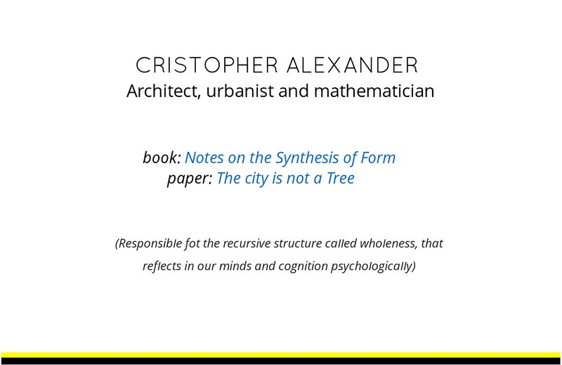 Slide that presents some qualities of the work of cristopher Alexander and how incredible he is