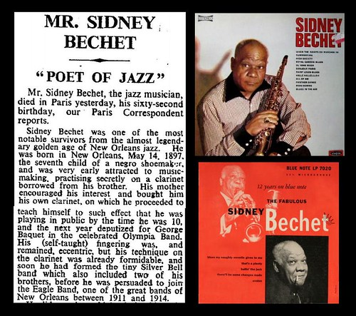 14th May 1959 - Death of Sydney Bechet | by Bradford Timeline