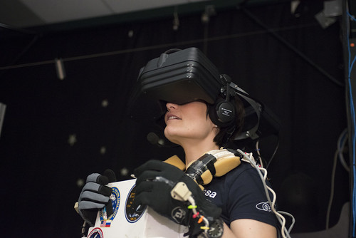 EVA training in the virtual reality lab | by AstroSamantha