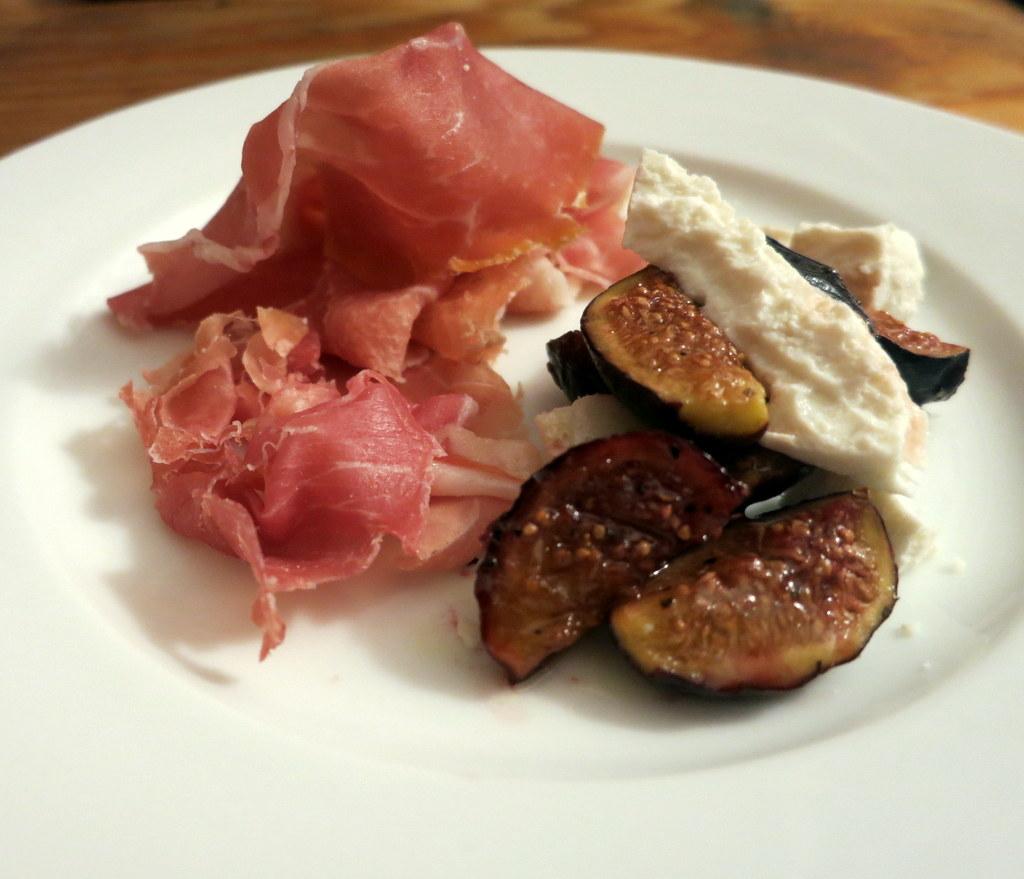 Prosciutto, figs and ricotta salata