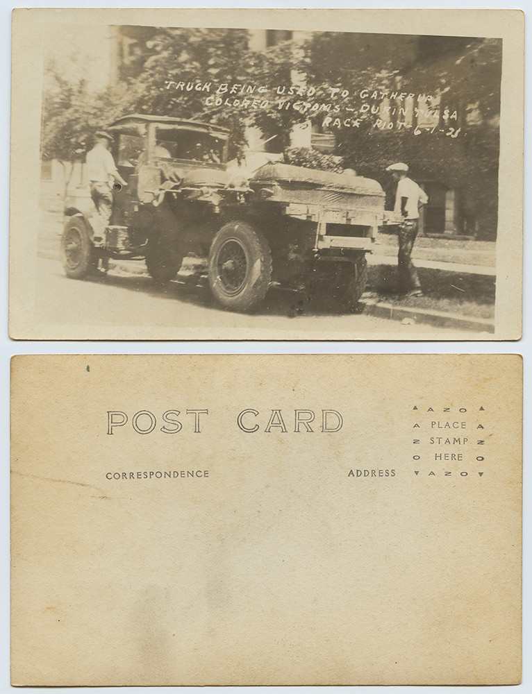 Truck Being Used to Gather up Colored Victims - During Tulsa Race Riot, 6-1-21 | by SMU Libraries Digital Collections