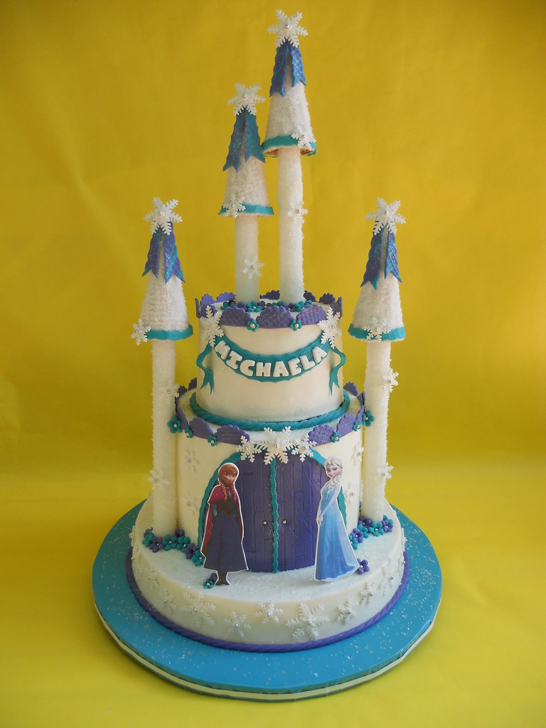 Frozen Castle Birthday Cake Amy Stella Flickr