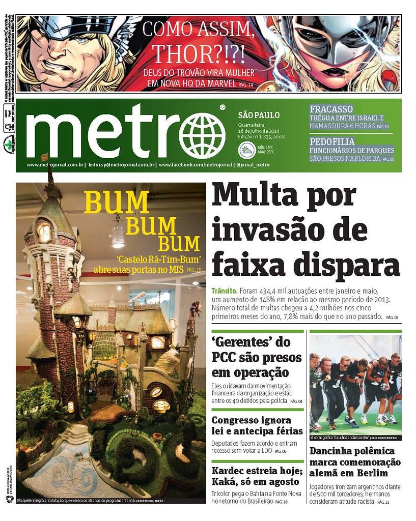 Metro SP / Castelo - 2014 | - Diagramação | Tiago Galvao