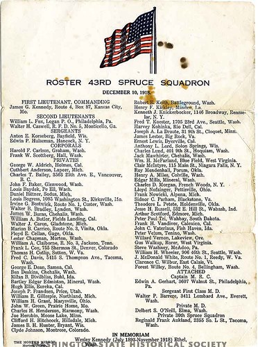 Partial Roster of the 43rd Spruce Squadron