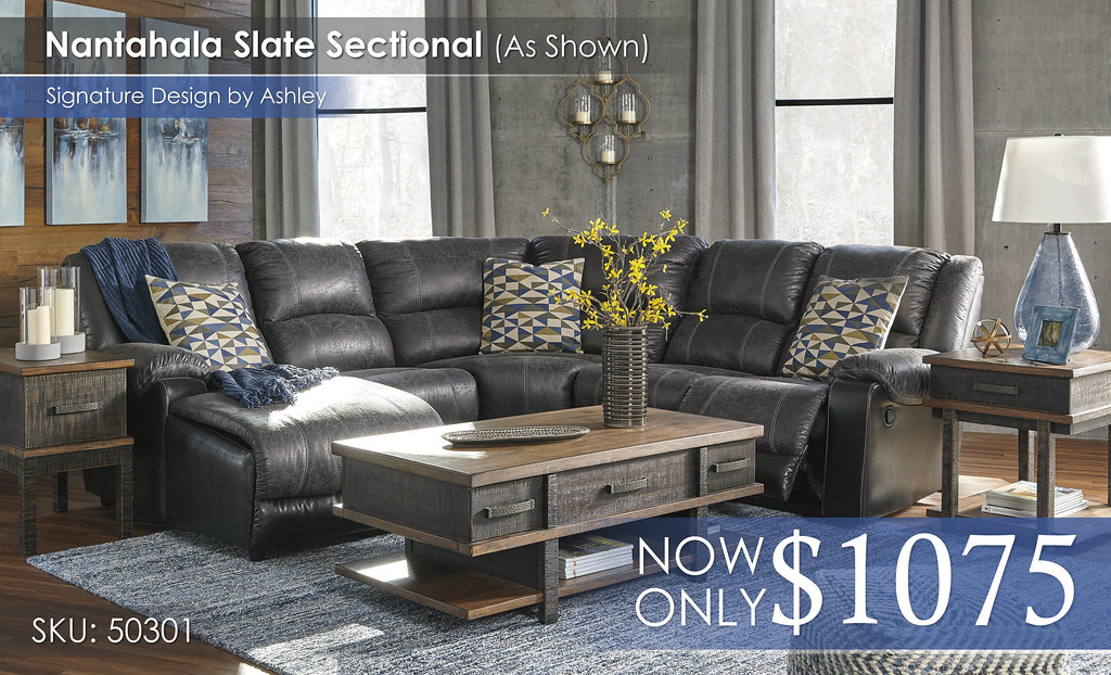 Nantahala Slate Sectional 50301-16-46-77-19-41-T892-PILLOWS