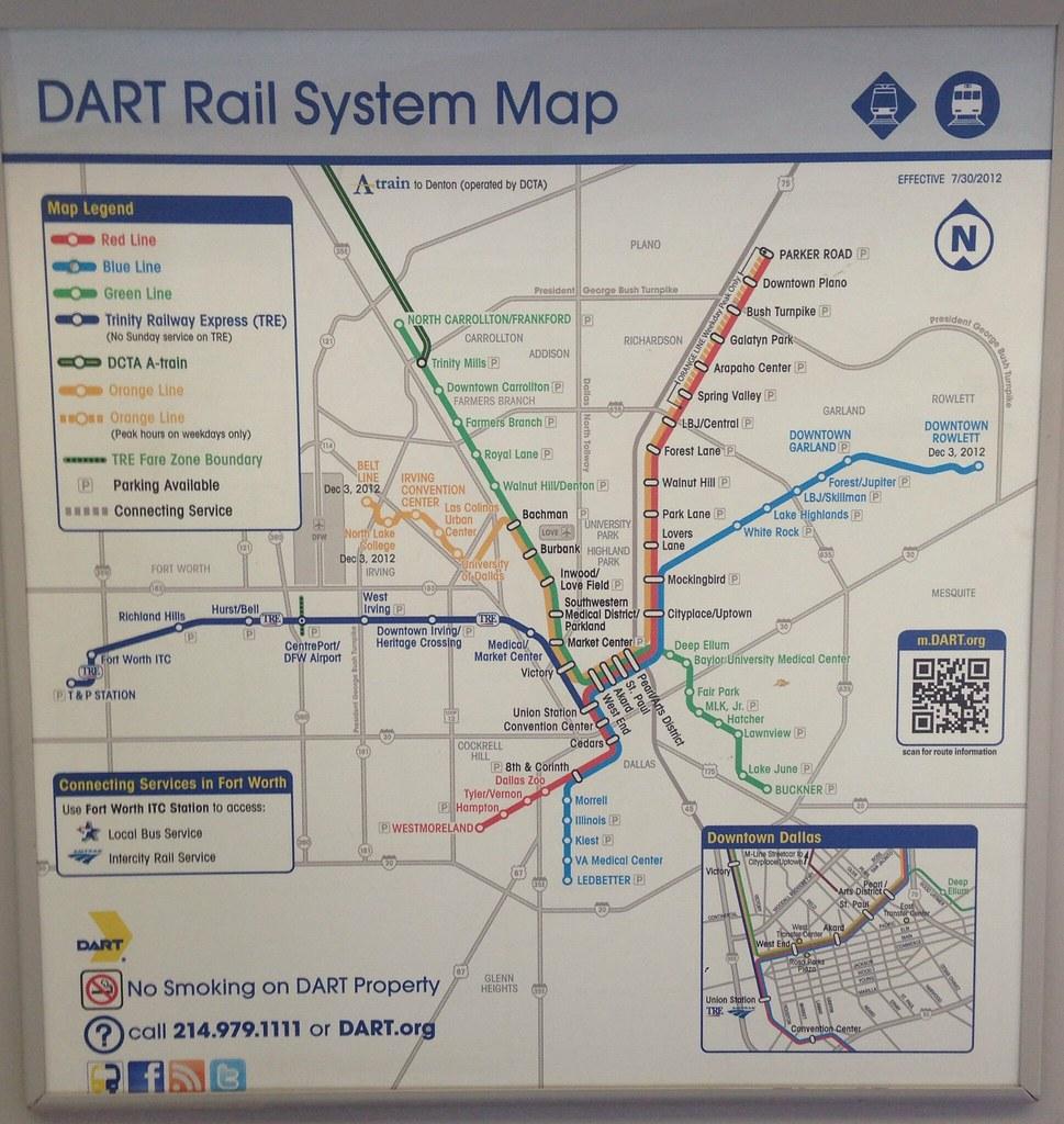 Dart Rail Map 6 14 A Dallas Area Rapid Transit Dart Ra Flickr