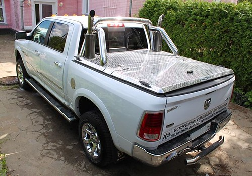 Modified Diamond Plate Aluminum Truck Bed Cover On Ram Pic