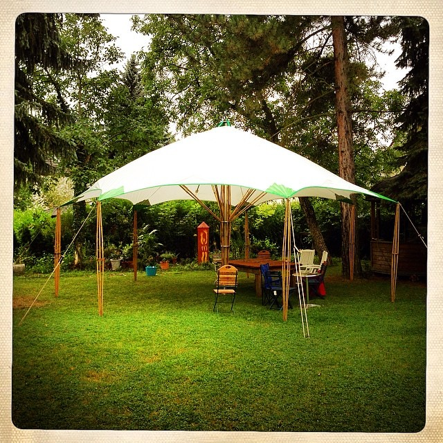 Bambus Zelt Im Garten In Leipzig Www Bambuszelte De Flickr