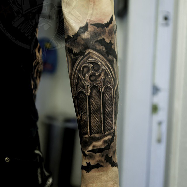 Extreme Tattoopiercing Gabi Tomescu Sleeve In Progressbatchurch Windowgothic
