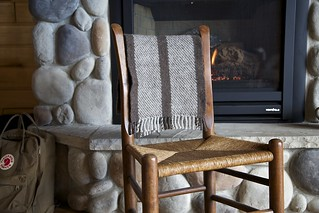 Twill scarf at the cabin | by chickpeastudio