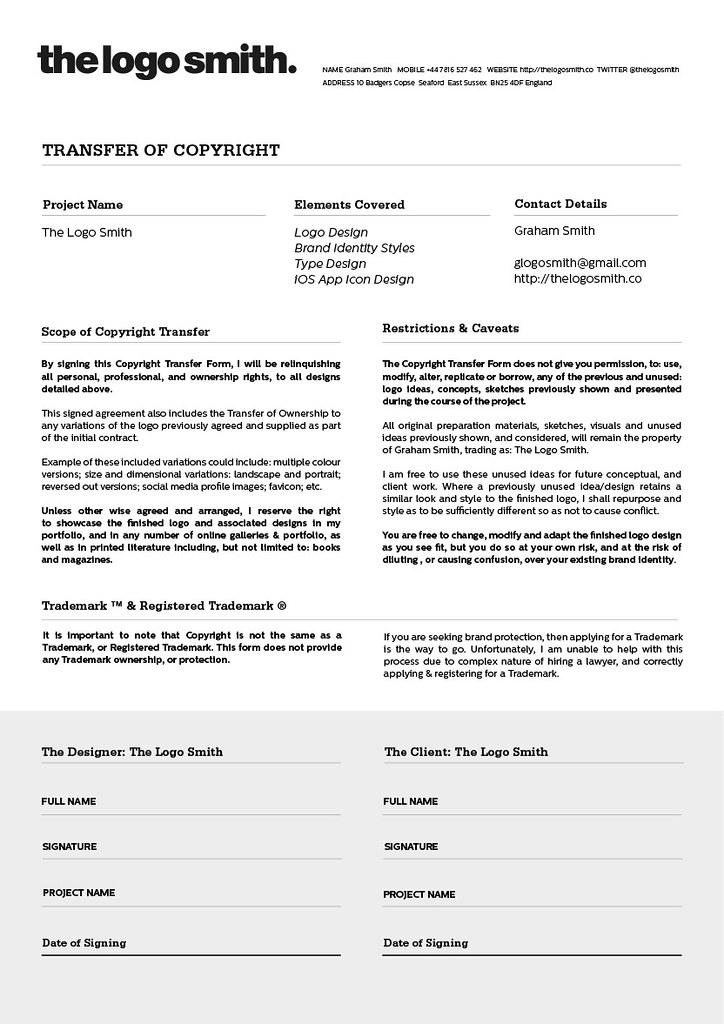 Download Logo Transfer of Copyright Form Template | >> Downl… | Flickr