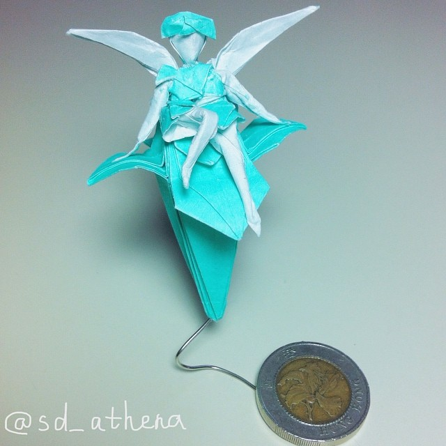 Origami 5c Iris Fairy Made With 15 15cm Pape Flickr Rh Com Crease Pattern Instructions