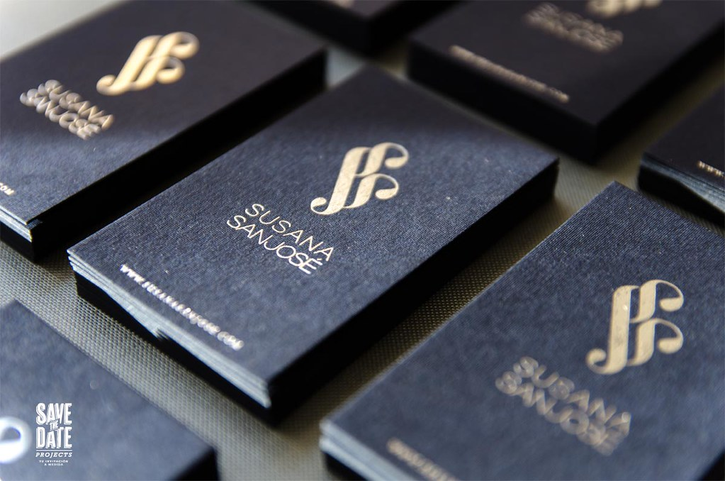 savethedateprojects foil stamped business cards by savethedateprojects - Foil Stamped Business Cards