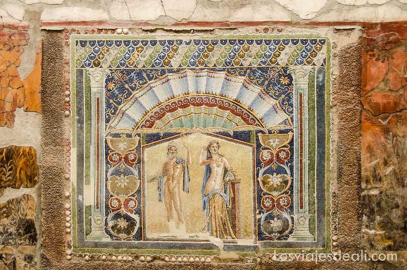 visita a Herculano mosaico