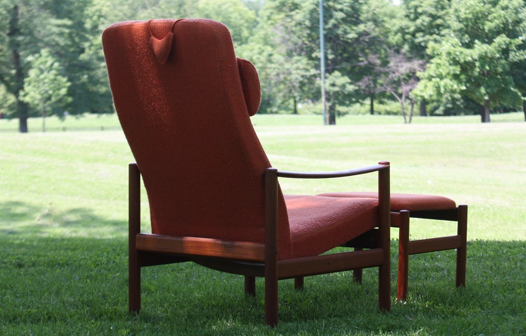 ... Winning Westnofa Midcentury Modern Scandinavian Reclining Lounge Chair  And Ottoman (Norway, 1960s) |