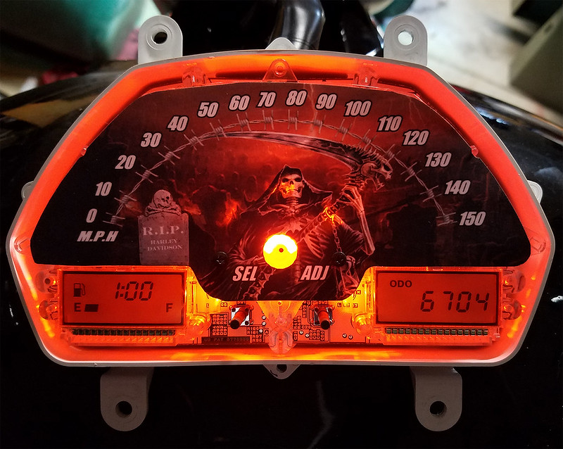 Speedometer faceplate installation - pic heavy
