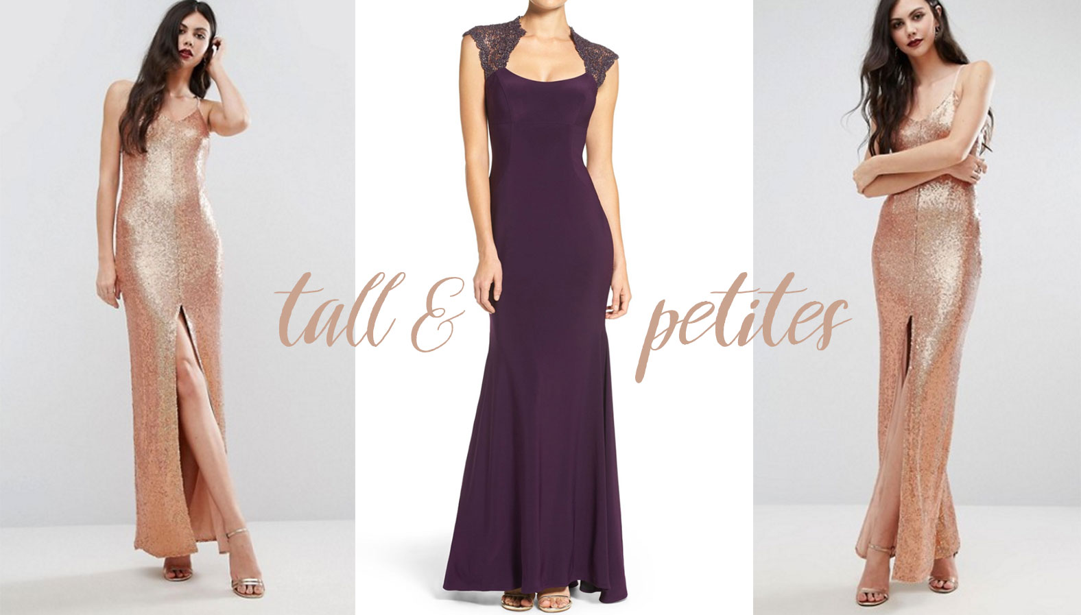 Tall and petite black tie Barristers' Ball dresses