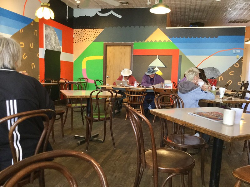 Aging Hippies at Winning Coffee
