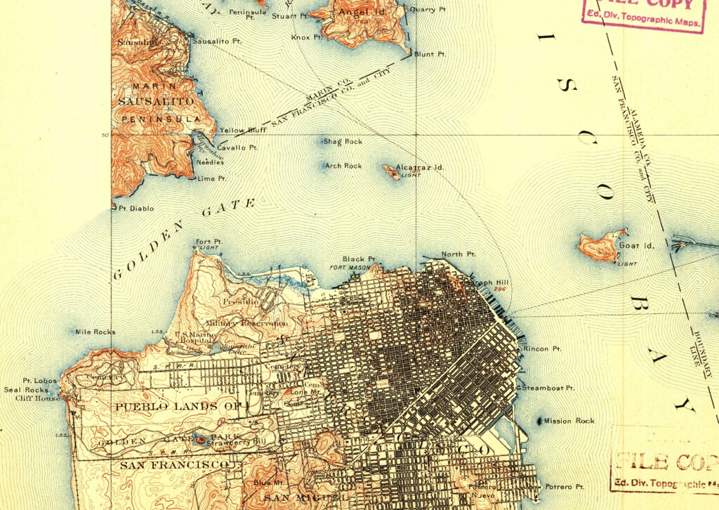 San Francisco, California, 1899, 15-minute topographic map… | Flickr
