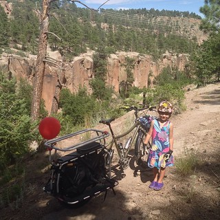 More mountain style bicycling on the big dummy #bigdummy #surly #xtracycle #hooptie #losalamos #nm | by Target Salad