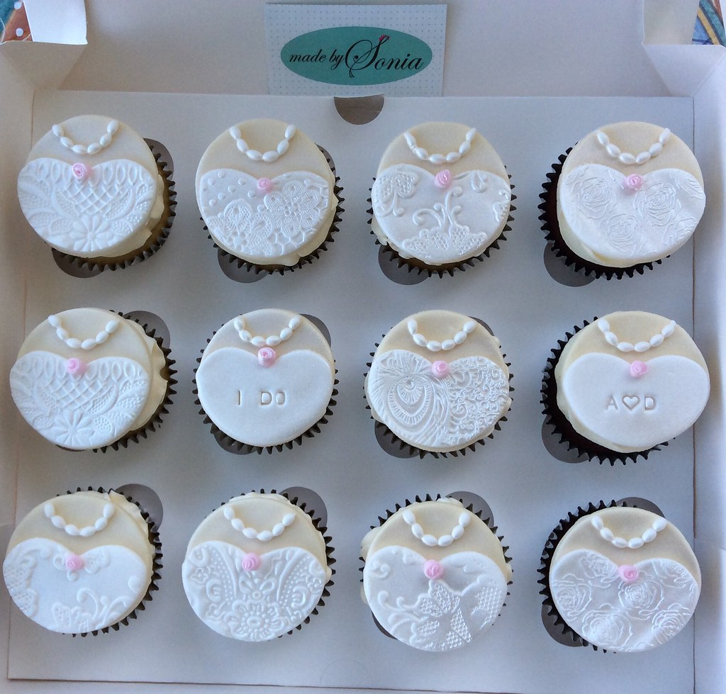 bridal shower cupcakes by made by sonia