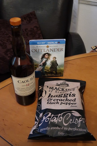 """Single Malt Whisky und Schottische Chips zur ersten Folge der Serie """"Outlander"""""""