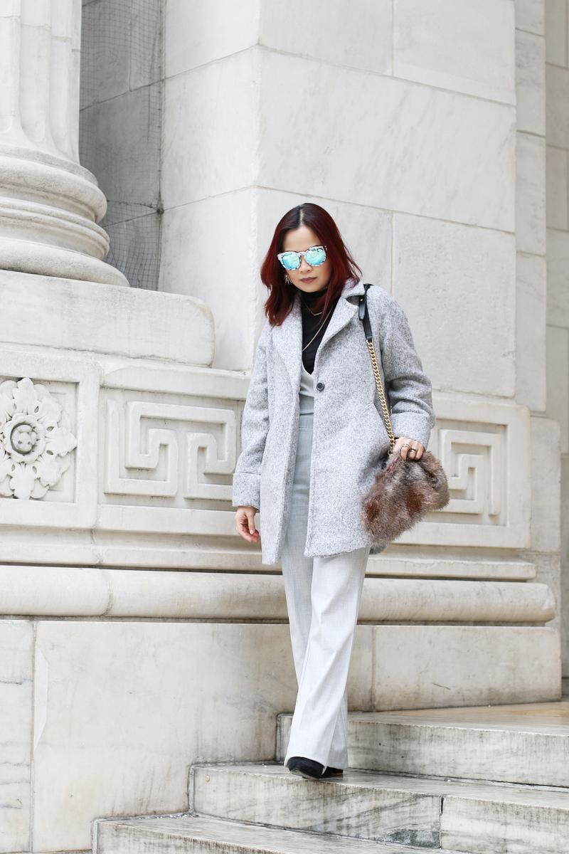 gray-outfit-trina-turk-jumpsuit-catherine-malandrino-coat-1