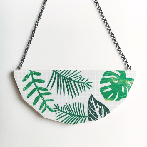 Foliage Statement Necklace by Lucie Ellen