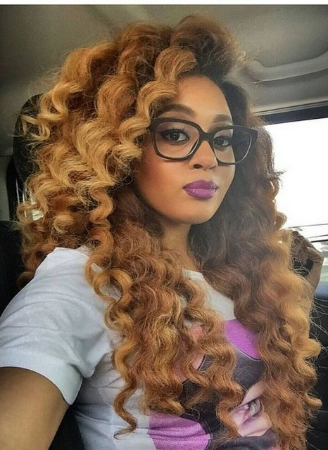 Edgy Blonde Curls