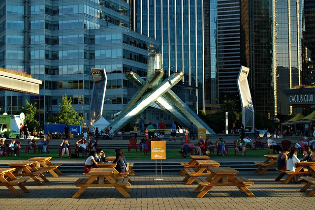 Picnic Tables at Jack Poole Plaza