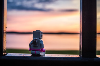 Robot at sunset (Project 365: 205/365) | by tehchix0r