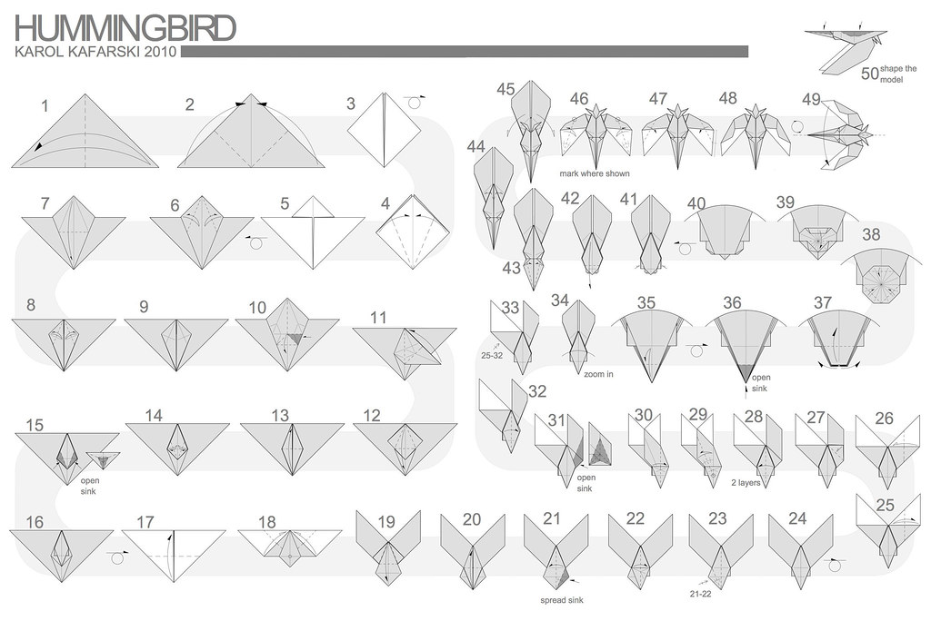 Hummingbird 1 0 Diagram Karol Kafarski Flickr Rh Com Origami Sword Step By