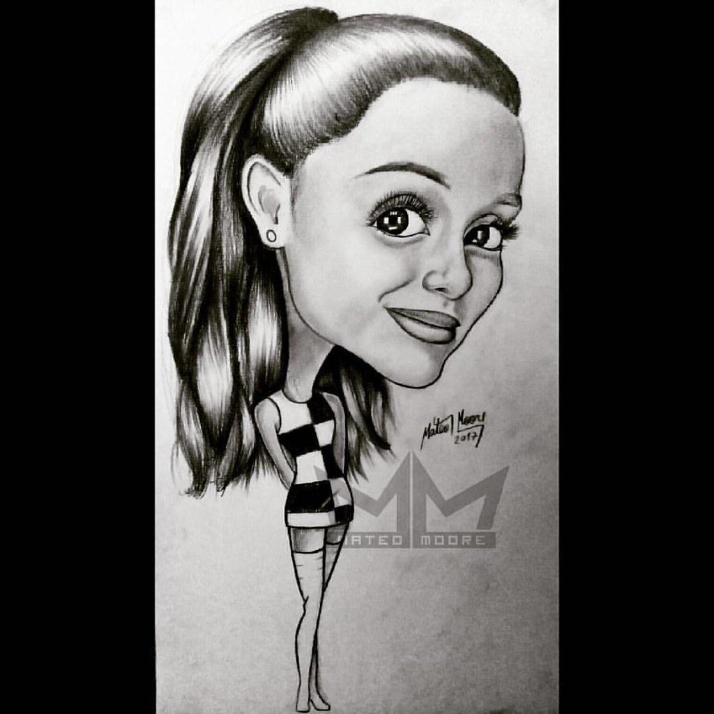 Caricatura ariana grande arianagrande caricatura cantante cartoon singer squetchpencil