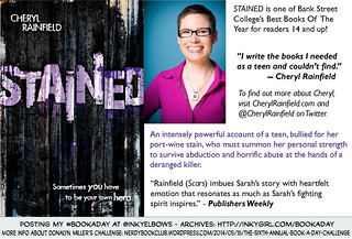 #BookADay: STAINED by Cheryl Rainfield (Houghton Mifflin Harcourt Trade, 2013 | by Inkygirl