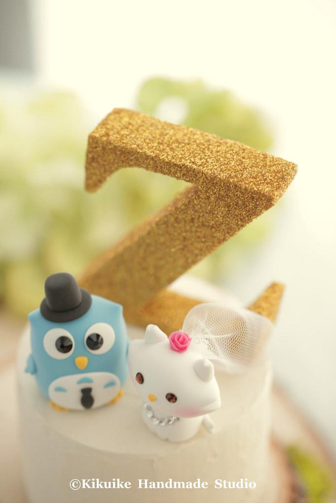owl and cat handmade wedding cake topper   www.etsy.com/list…   Flickr