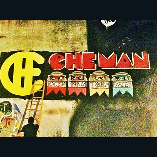 @snapofmiami stopped by to help out and snapped some great pics as well. #SnapOfMiami #CheMan #VivaCheMan #VivaChe #Che #streetarteverywhere #streetartmiami #streetart | by VIVACHE
