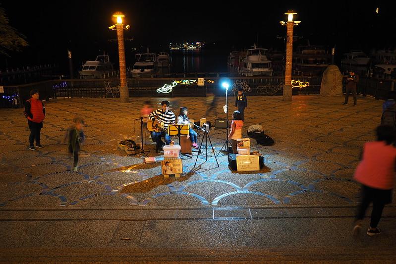 街頭賣唱|水社碼頭