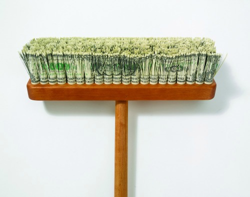 Paper Art Exhibit - Mark Wagner, Very Expensive Push Broom
