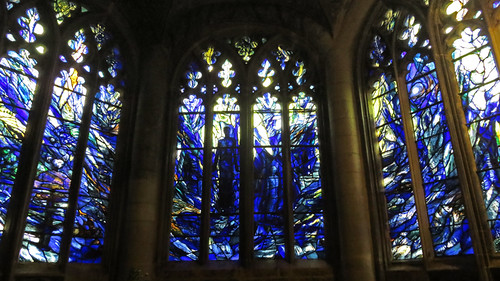 The stained-glass windows of England's Gloucester Cathedral
