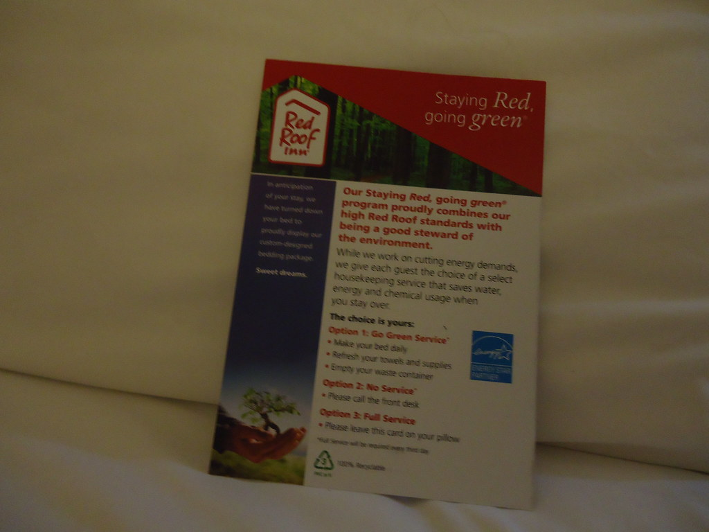 red roof inn housekeeping flyer this card on my bed has a flickr red roof inn housekeeping flyer by c bunny
