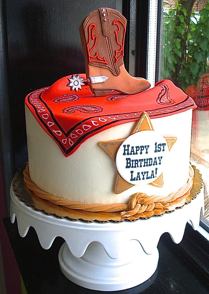 Cowboy Themed Birthday Cake Sasa Flickr