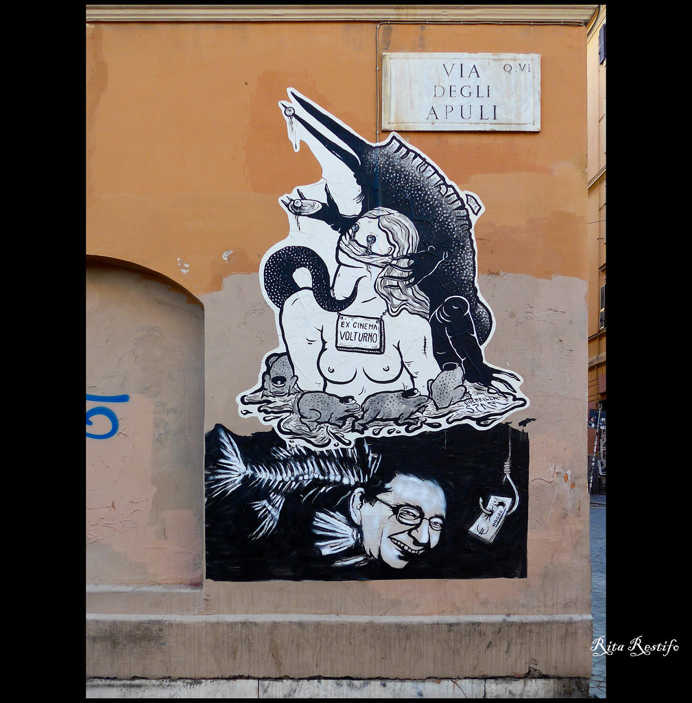 San lorenzo street art bagnetto privato by hogre e guerrilla