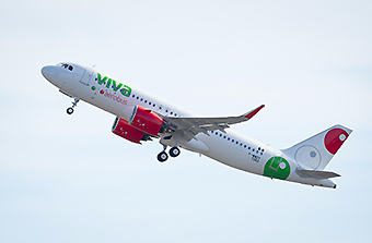 Viva Aerobus A320neo take off (Airbus)