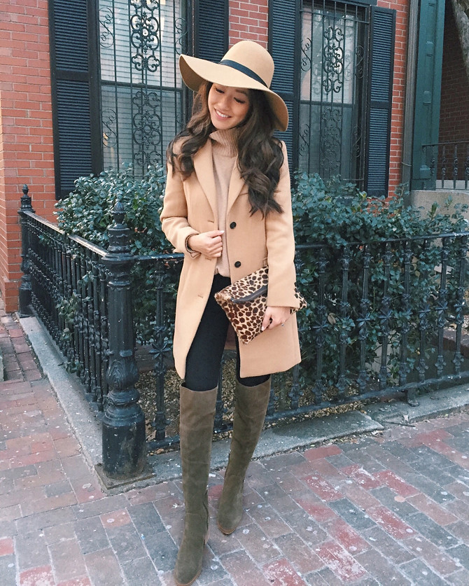jcrew wool camel coat marc fisher OTK boots
