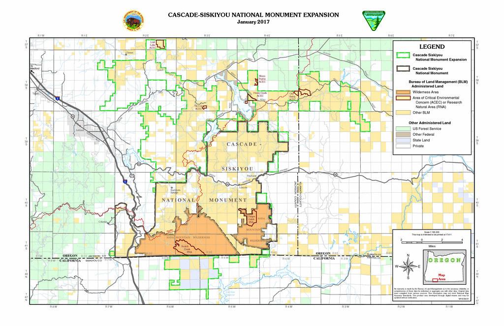 CascadeSiskiyou National Monument map The CascadeSiskiyo Flickr