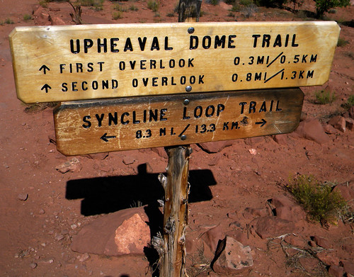 Signage at Canyonlands National Park